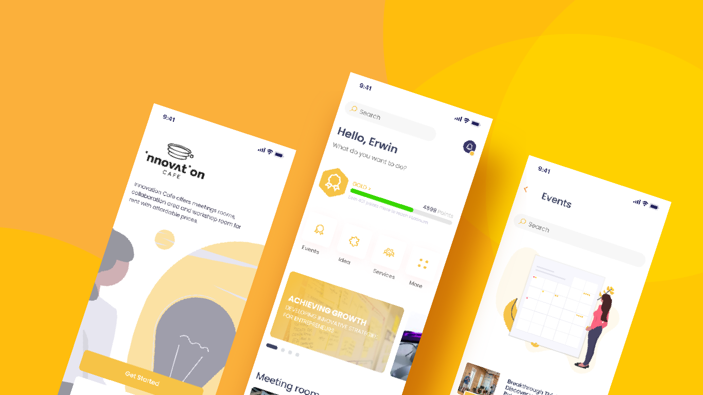 innovation cafe app – concept