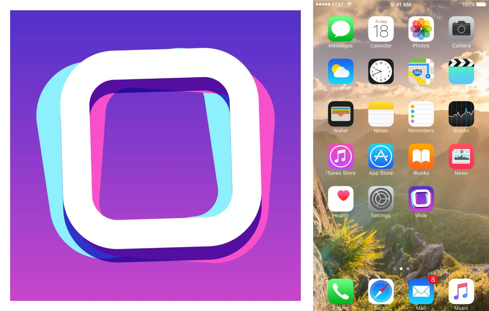 wiide app icon – concept